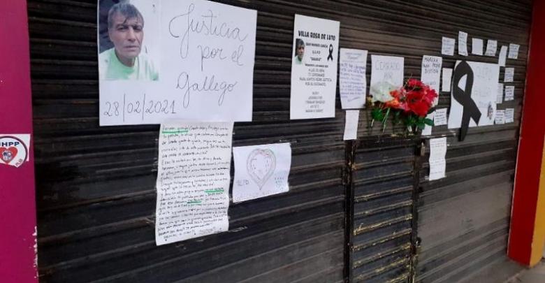 Mensajes y muestras de cariño de los vecinos al Gallego García.