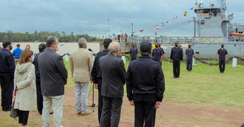 Rossi, en su visita a la Base Naval Zárate (Foto Zona Norte Visión)
